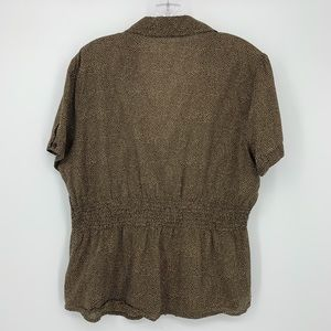 The Limited Tops - The Limited, Short Sleeve V Neck Top Size XL